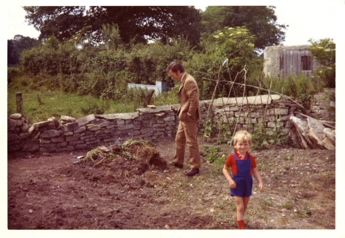 Scrap Book: Me and my Dad in the garden – Falling Awake
