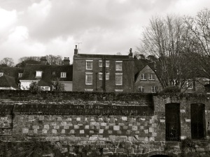 Rear of Chesil St (with Listed wall)