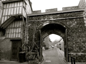 St Swithuns Gate (with Porters Lodge) Winchester C13