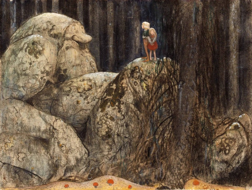 The Child and the Stone Troll (John Bauer)