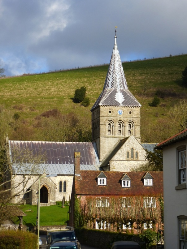 East Meon Church and Park Hill