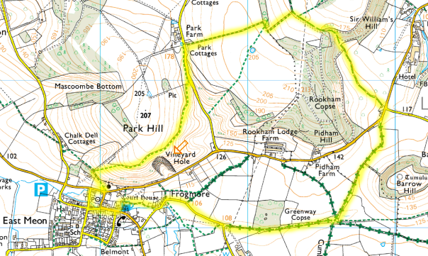 East Meon Walk Route Map