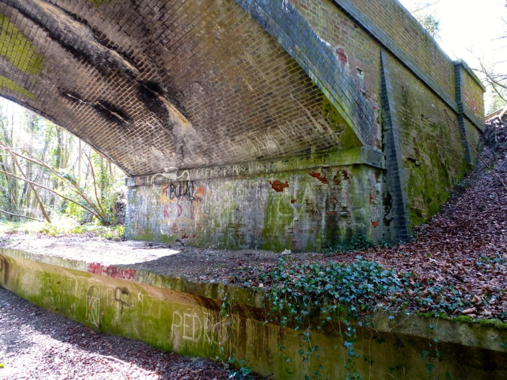 Road bridge over old station at West Meon