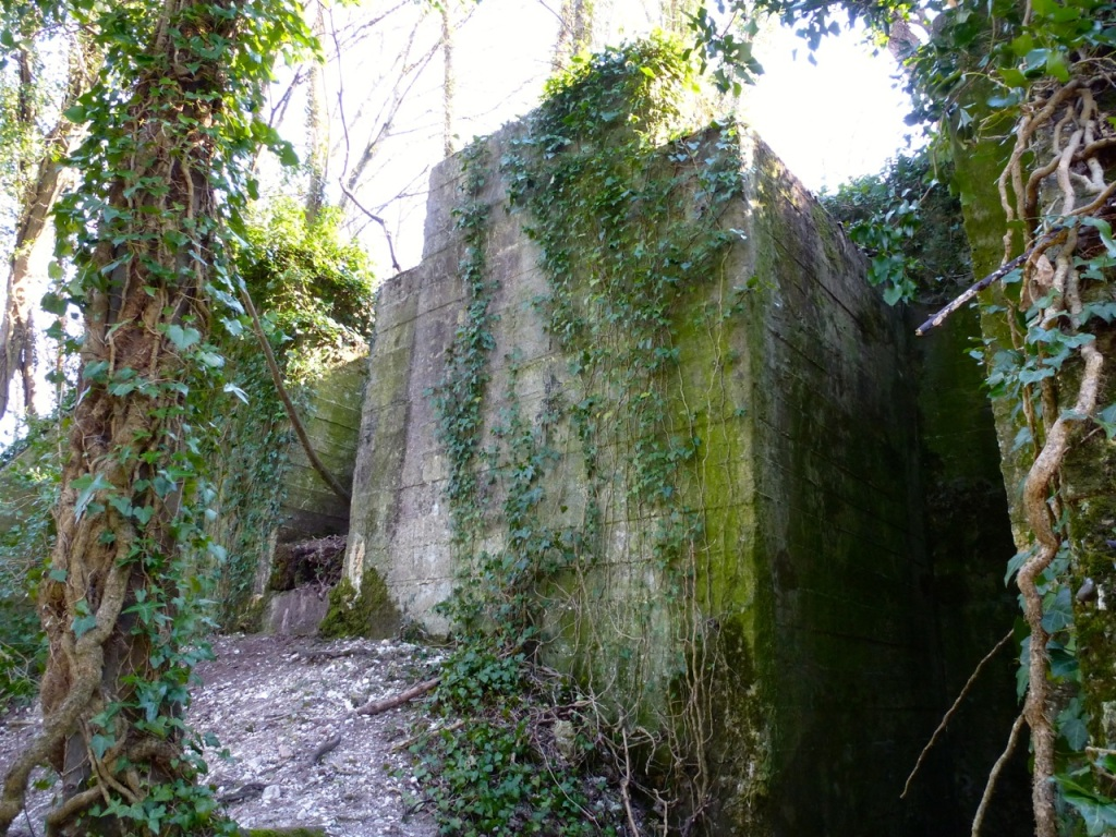 West Meon viaduct foundations