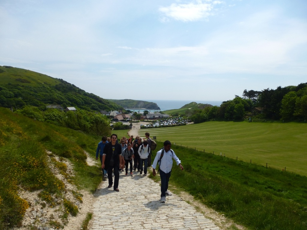 Path from Lulworth to Durdle Door