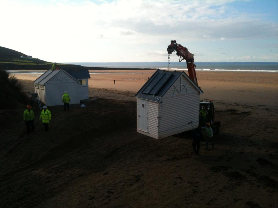 Croyde Lifeguard hut dismantled