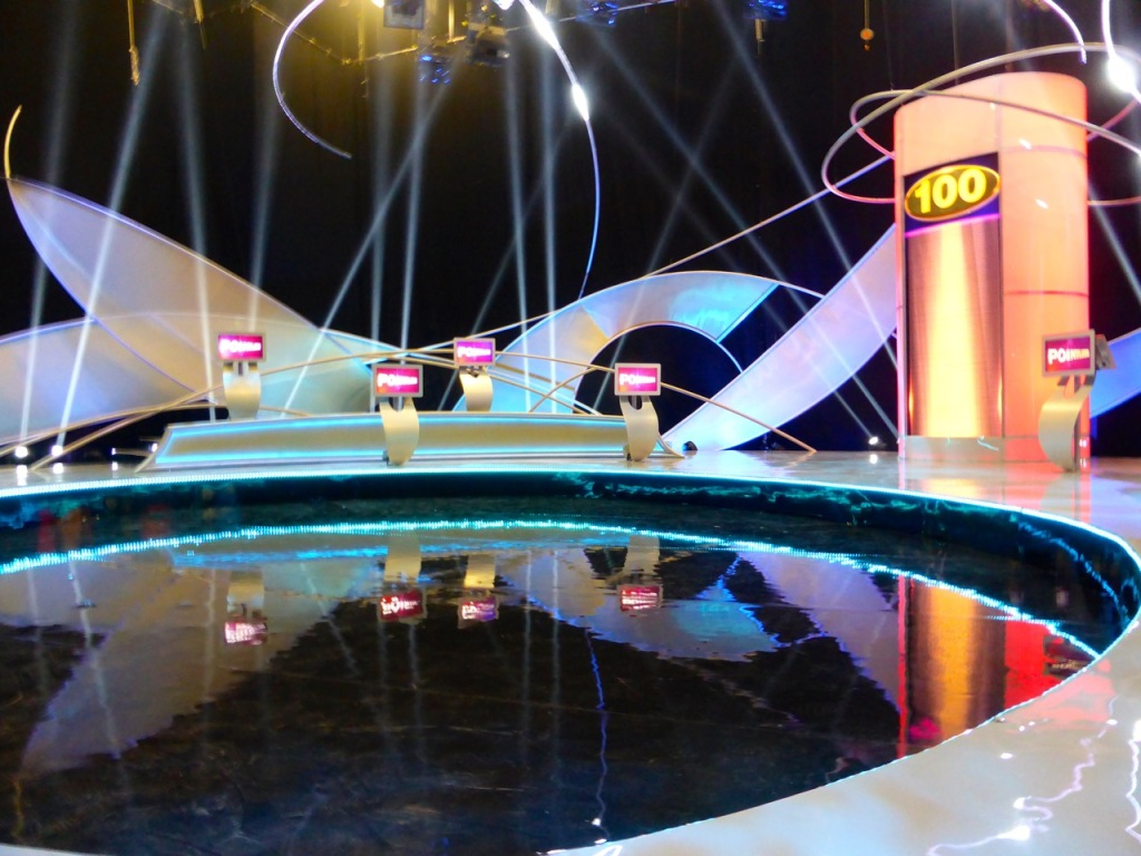 Pointless studio contestant podiums