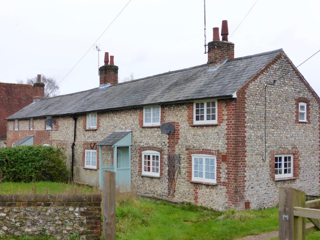 Flint cottages, Bishops Sutton
