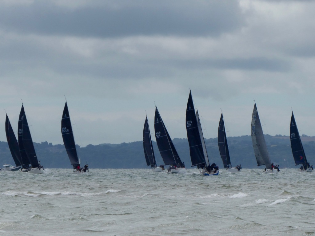 Black sails on Solent