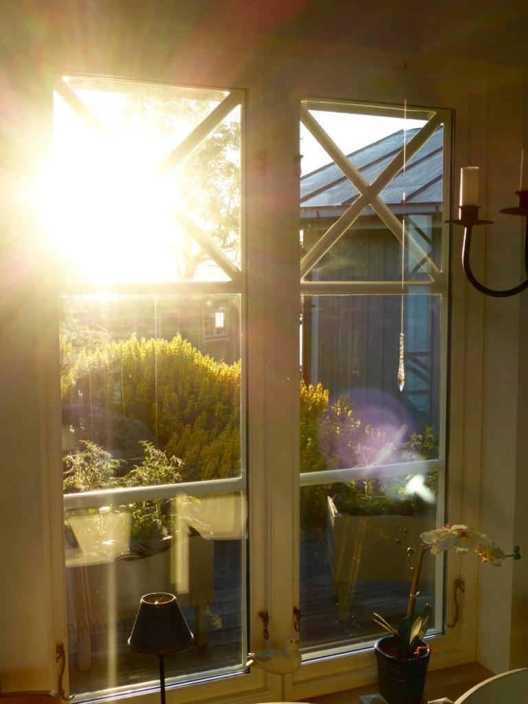 Early morning light through window