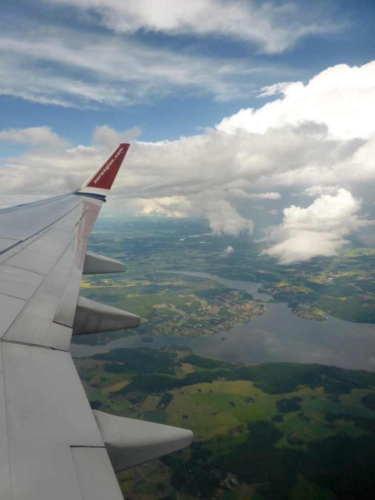Nowegian flight leaving Stockholm