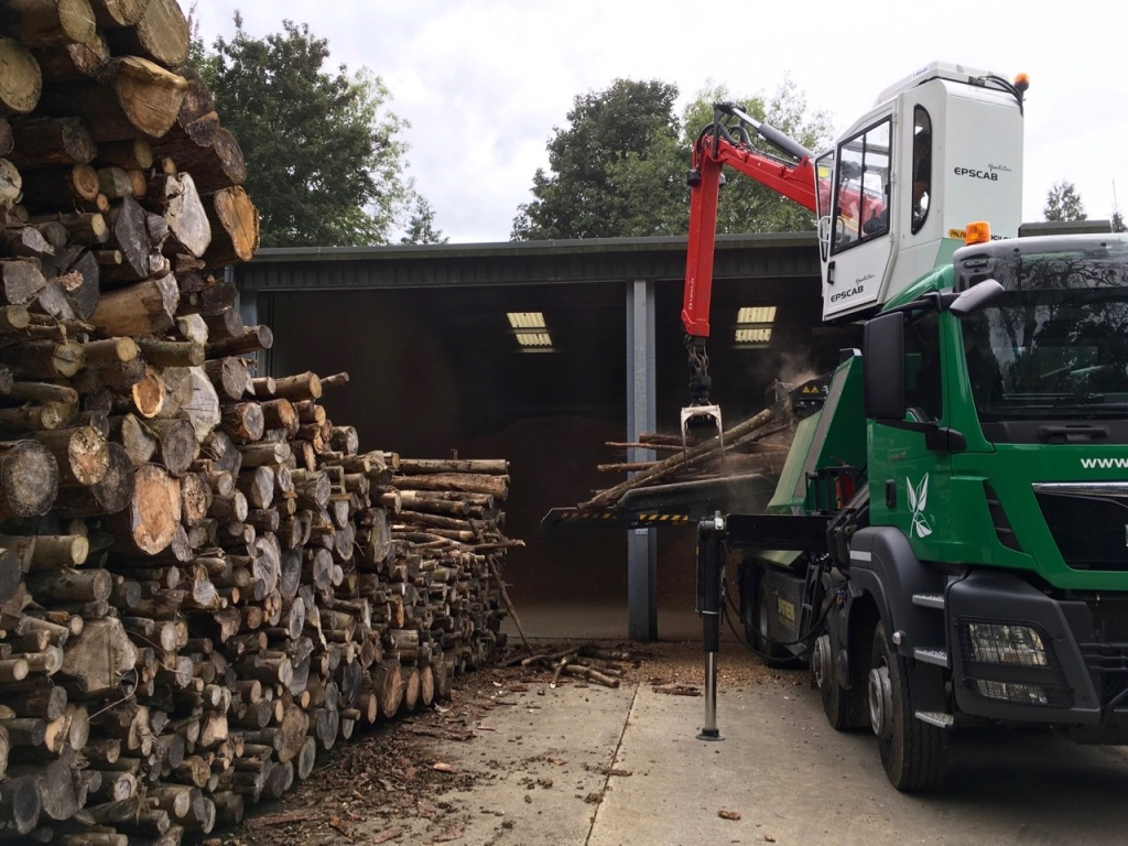 Wood Chipping Lorry