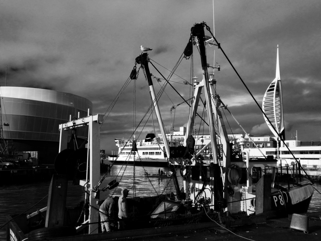 Fishing boat at The Camber, Portsmouth