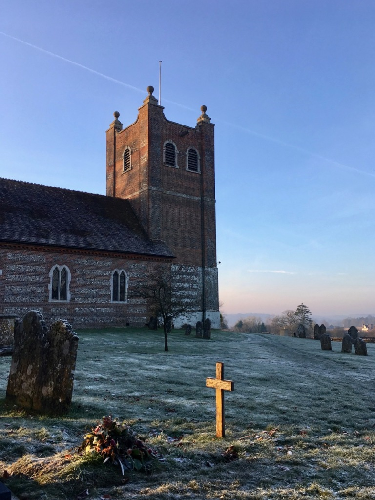 Old Alresford Church, frost