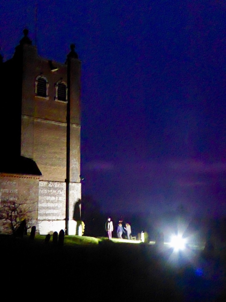 Old Alresford Church, night