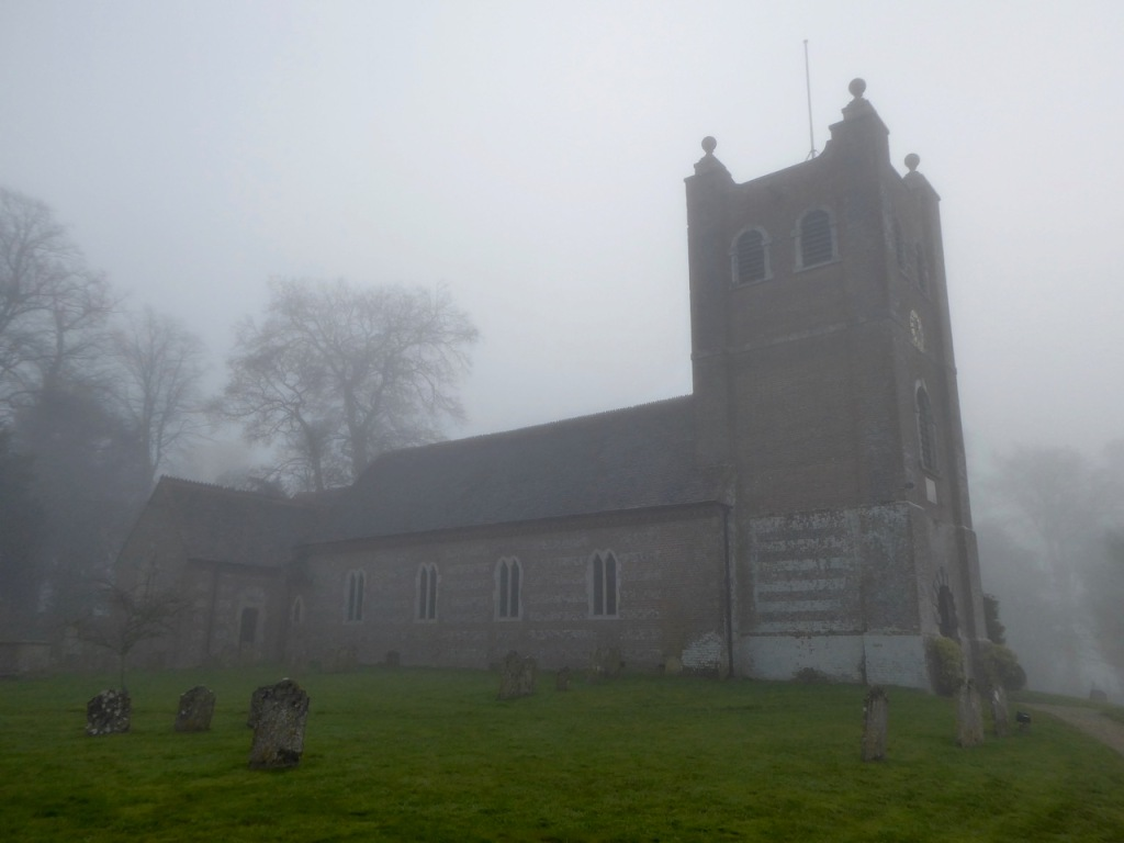 Old Alresford Church, mist