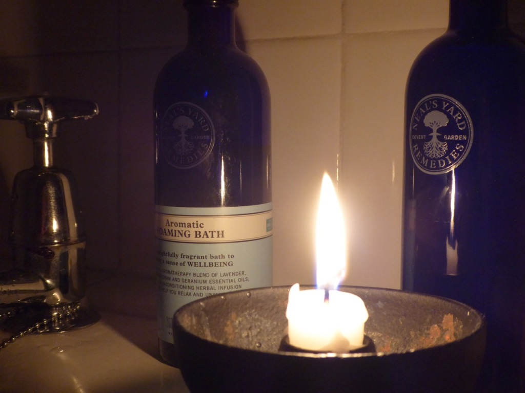 Bathtime candle